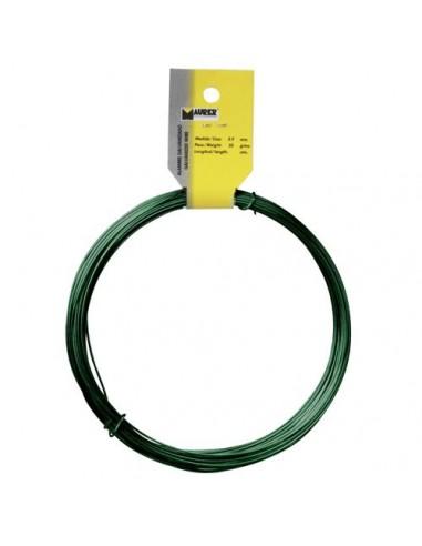 Alambre Plastificado Maurer (Rollo 25 Metros) Verde Nº 16 / 2.7 mm.