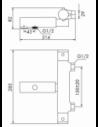 MESA PLEGABLE CON ALTURA AJUSTABLE 20x60x52/74 CM
