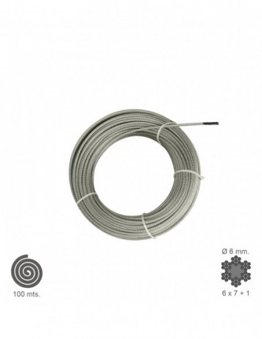 Cable Galvanizado 4 mm. (Rollo 100 Metros) No Elevacion