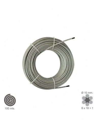 Cable Galvanizado 14 mm. (Rollo 100 Metros) No Elevacion