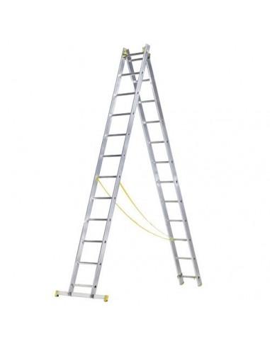 Escalera de aluminio con 4 pelda/ños.