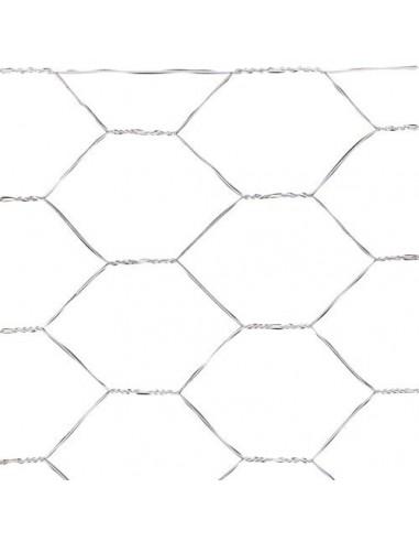 Tela Cuadros Plastico 1,0 cm. x 1 metro. Blanca Rollo 25 metros
