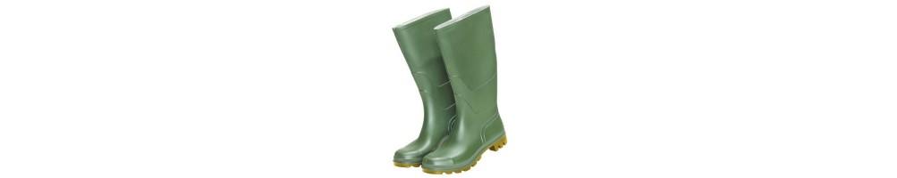Botas goma altas verdes